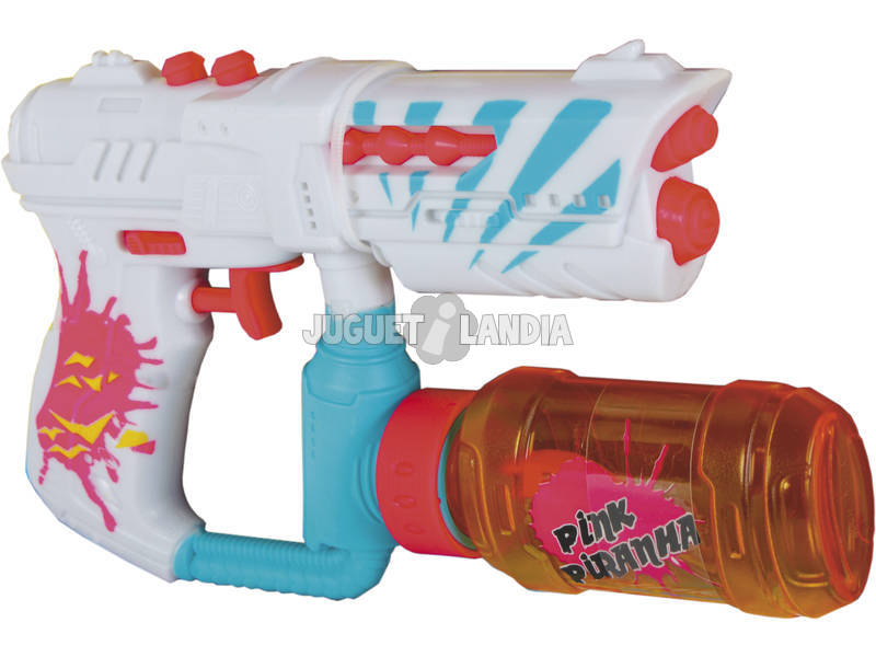 Pistola de Agua Pink Piranha con Deposito 100 ml.