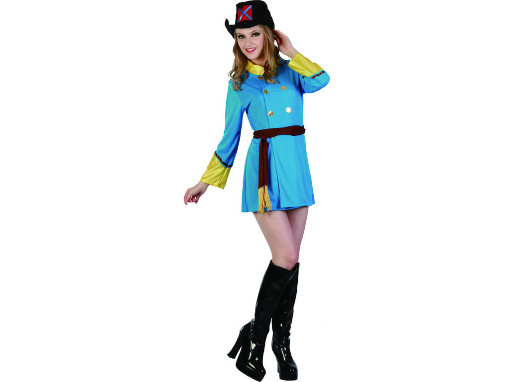 Disfraz Soldado Confederado Mujer Talla XL