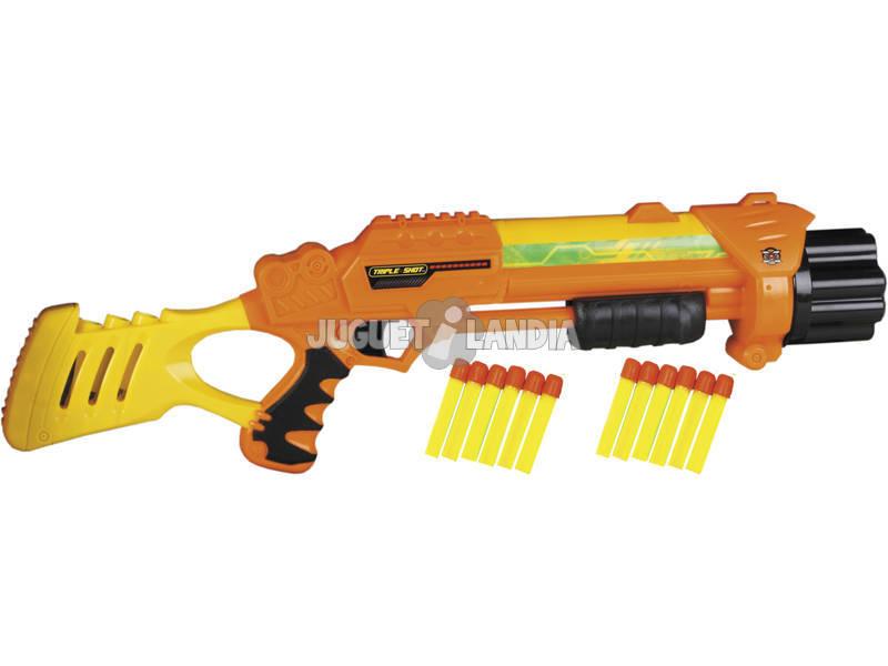 Pistola Tripla Shot com 12 Dardos