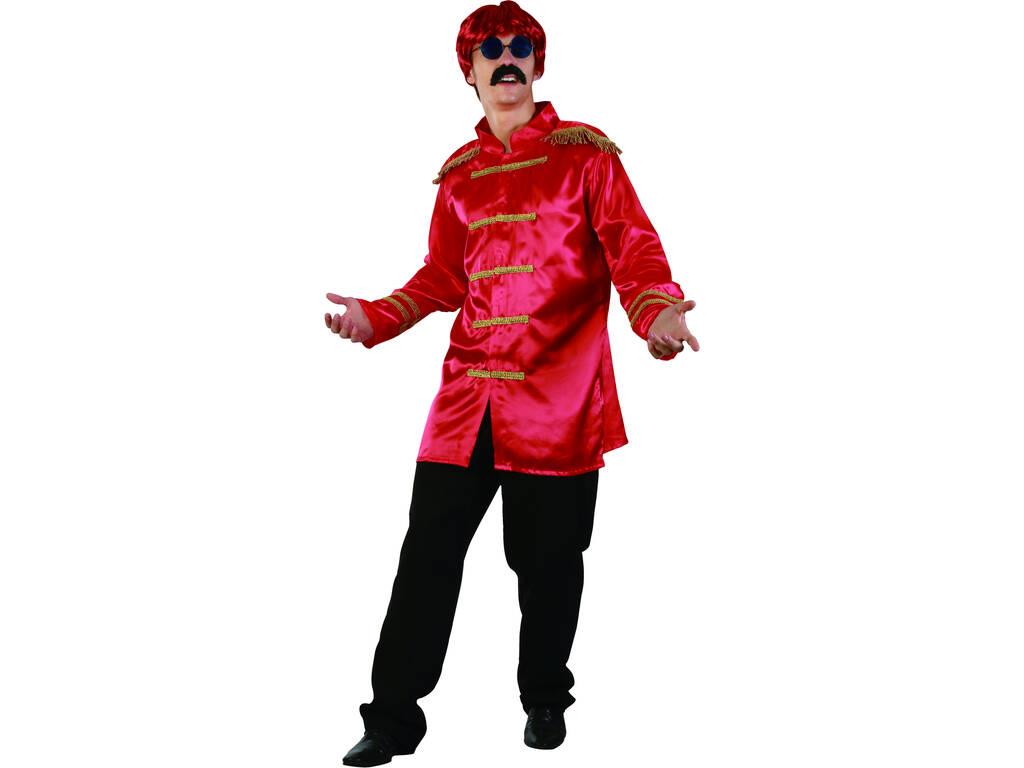 Disfraz Estrella del Rock Rojo Hombre Talla L