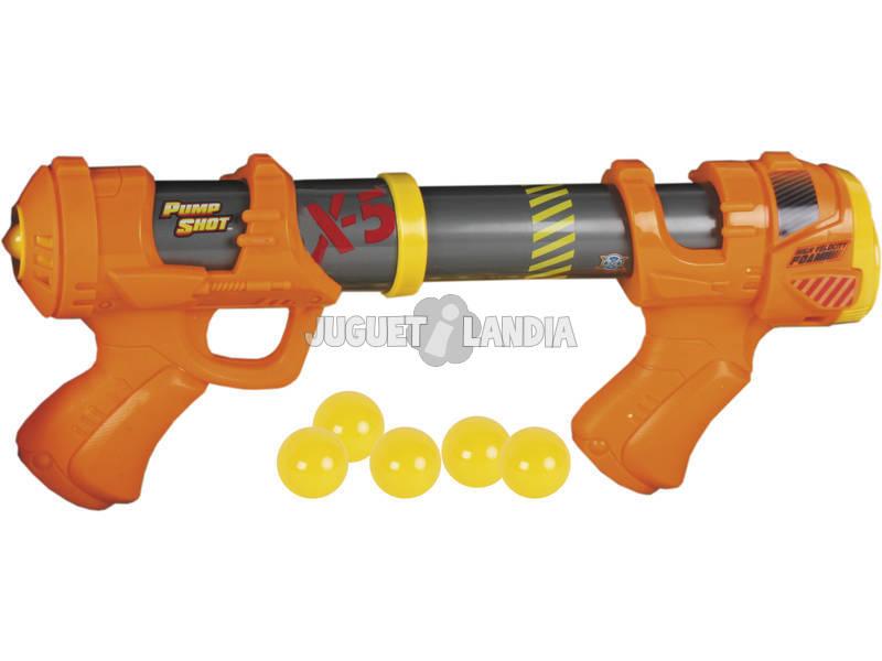 Pistola Pump Shot con 5 Bolas