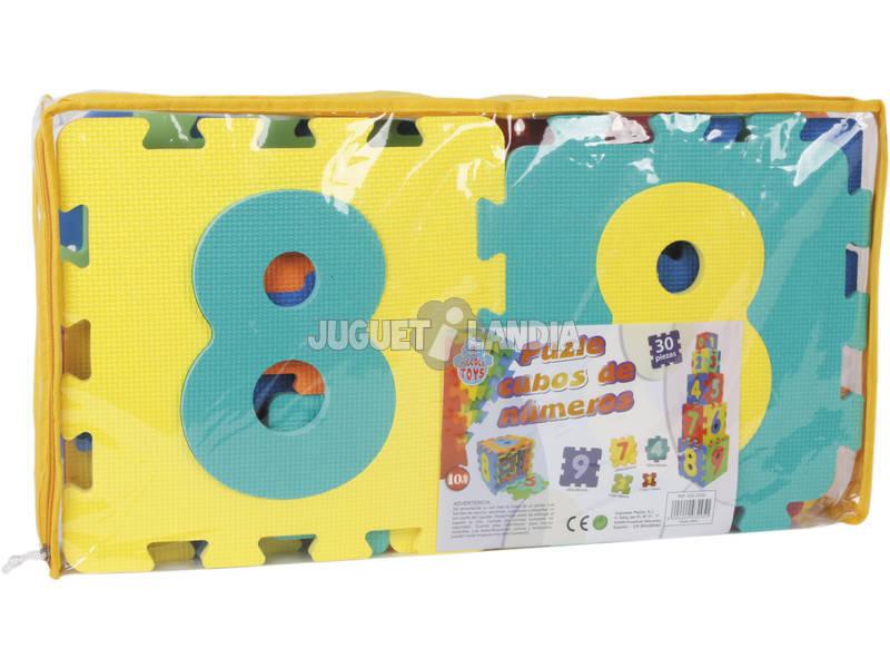 Puzzle Eva 2 Em 1 Cubos - Números