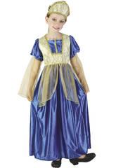 Maschera Principessa Reale Azzurra Bambina Taglia L