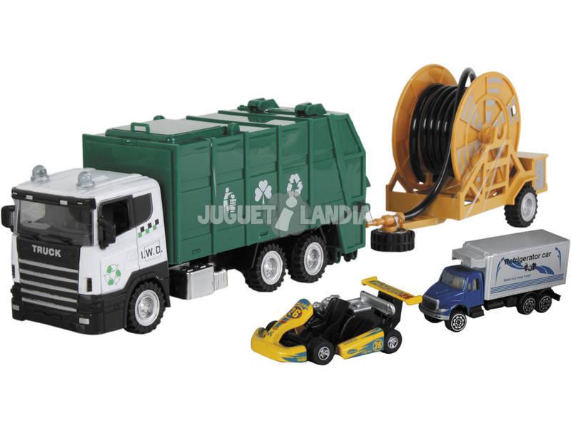 Camión Residuos de Juguete 23 cm. con Vehículo