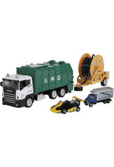 Spielzeugmüllwagen 23 cm.mit Fahrzeug