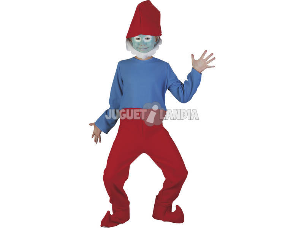 Costume Gnome Vermelho Criança Tamanho L