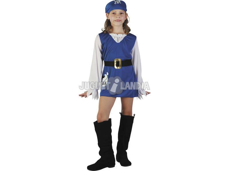 Déguisement Pirate Bleu Fille Taille S