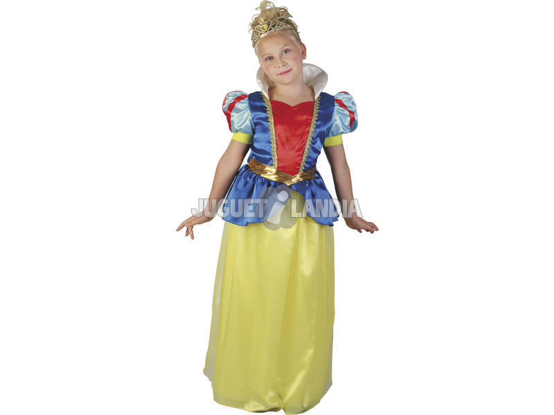Disfarce Princesa das Neves Menina Tamanho S
