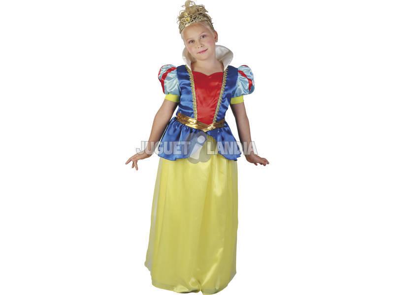 Disfarce Princesa das Neves Menina Tamanho M