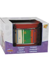 Tambor De Madera Con 2 Baquetas