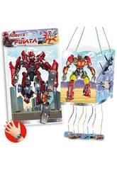 imagen Bolsa Piñata Robots 4 Caras