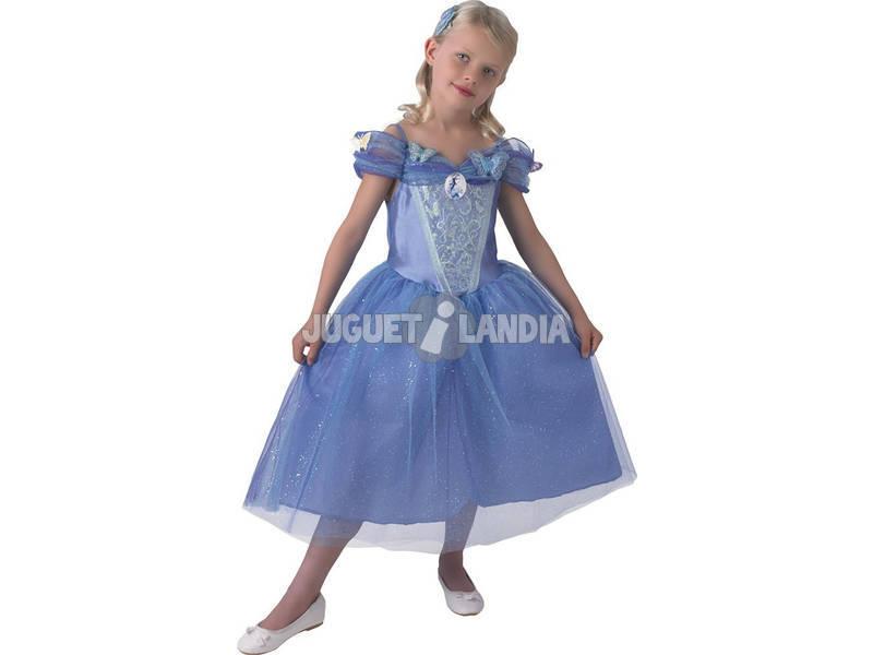 Disfarce Menina Cinderela Live Action T-L Rubies 610777-L