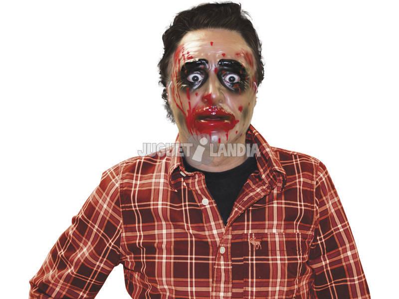 Máscara Transparente Homem Zumbi Sangrento Rubies S3177
