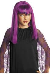 imagen Peluca Infantil Vampiresa Color Lila Rubies S1515