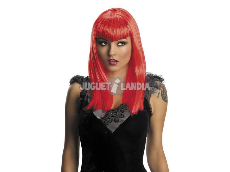 Peluca Adulto Vampiresa Traviesa Roja Rubies S1516