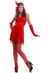 Disfraz Mujer L Chica Años 20 Rojo