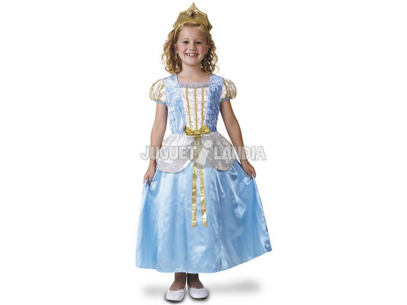 Disfarce Menina M Princesa Azul de Luxo