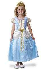 Disfraz Niña M Princesa Azul De Lujo