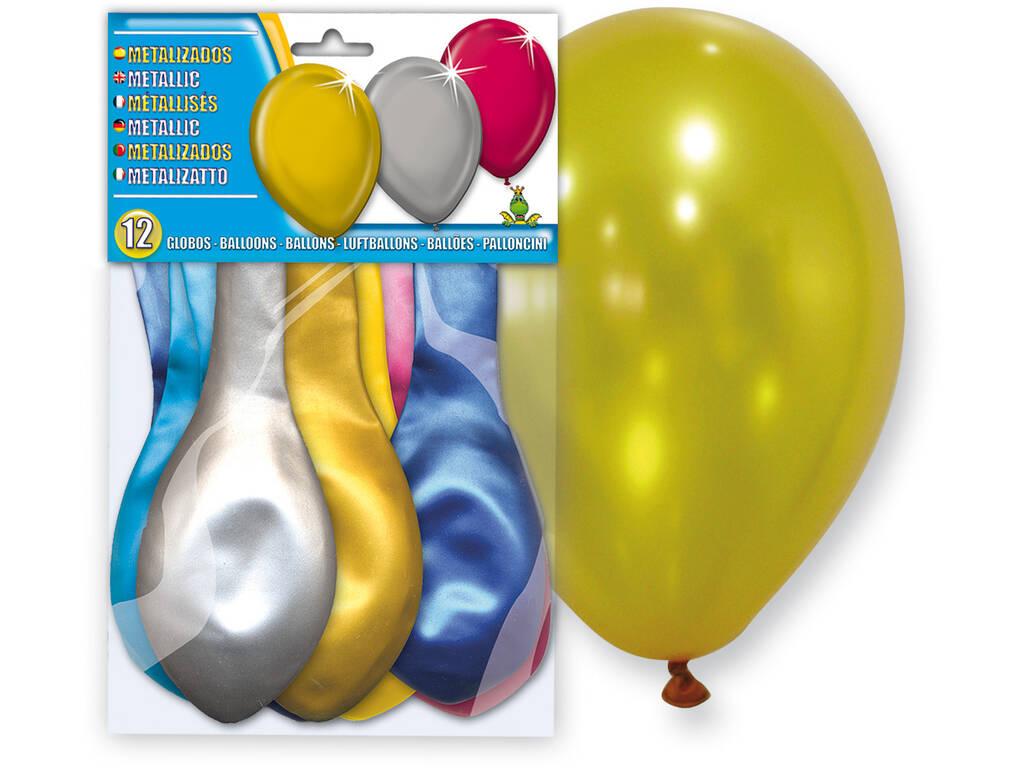 Borsa da 12 palloncini metallizzati Globolandia 5108