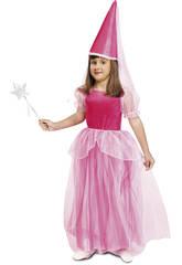 Maschera Bambina XL Fata Rosa