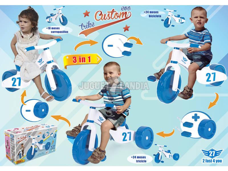 Triciclo 2 Fast 4 You 3 en 1 Azul