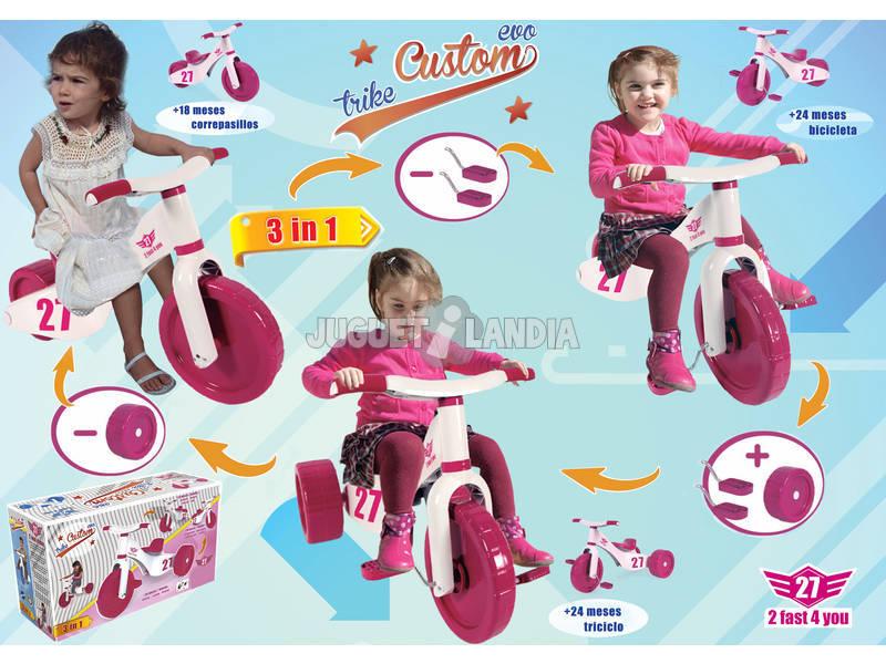 Triciclo 2 Fast 4 You 3 en 1 Rosa