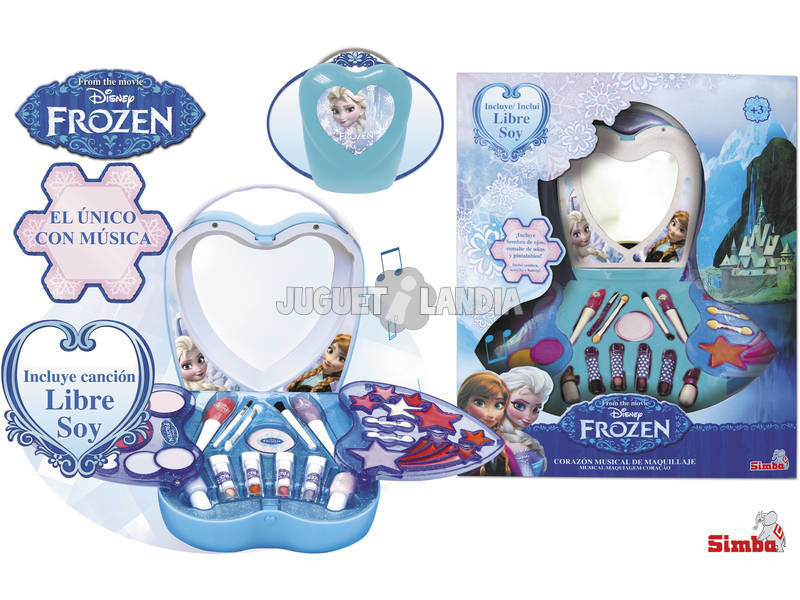 Frozen Maquillaje Corazon Musical