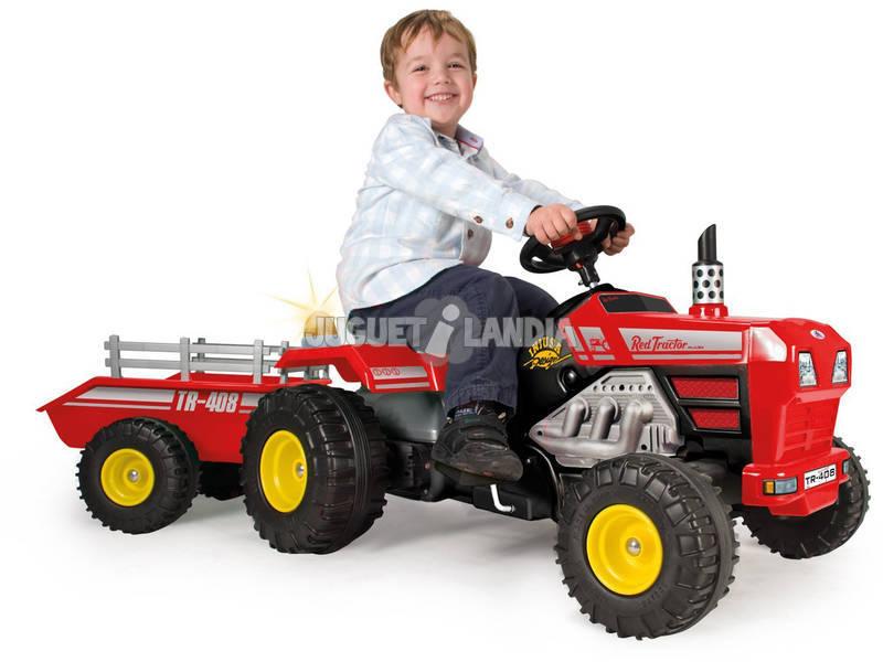 Tractor Súper Track con Volquete a Pedales 3 Años Injusa 408