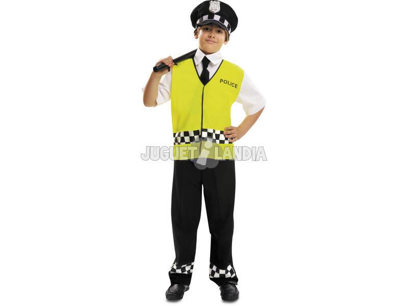 Criança de fantasia XL polícia com colete