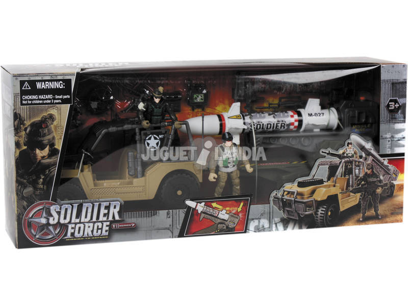 Soldier Force Jeep Con Rimorchio