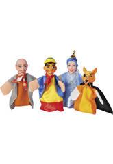 4 Marionetas Con Teatrillo Cuentos Infantiles