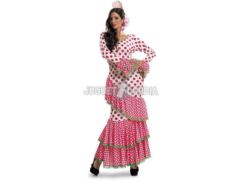 Disfraz Mujer XL Flamenca Roja Elegante