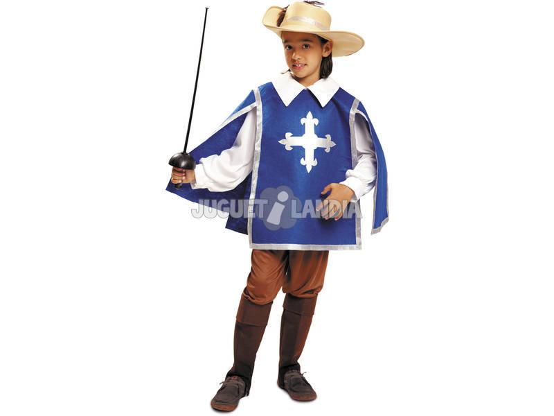 Fantasia Menino XL Mosqueteiros Azul