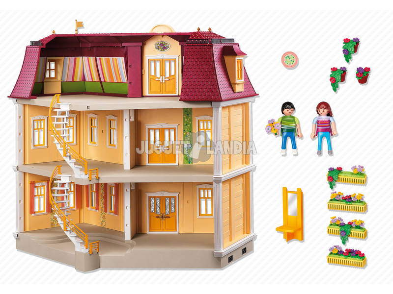 Playmobil mi gran casa de mu ecas juguetilandia - Playmobil casa de munecas carrefour ...
