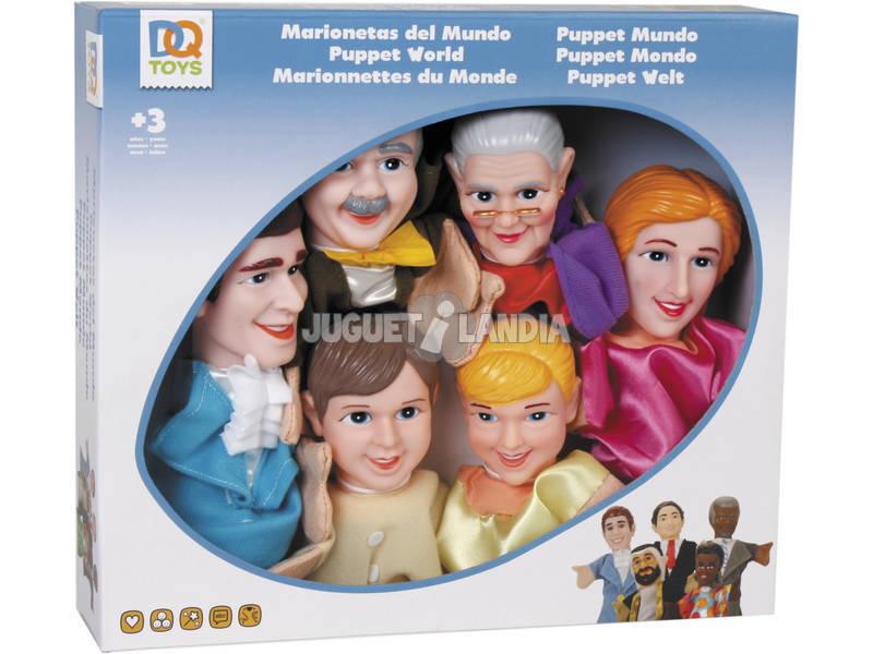 Marionetes do Mundo 6 Peças