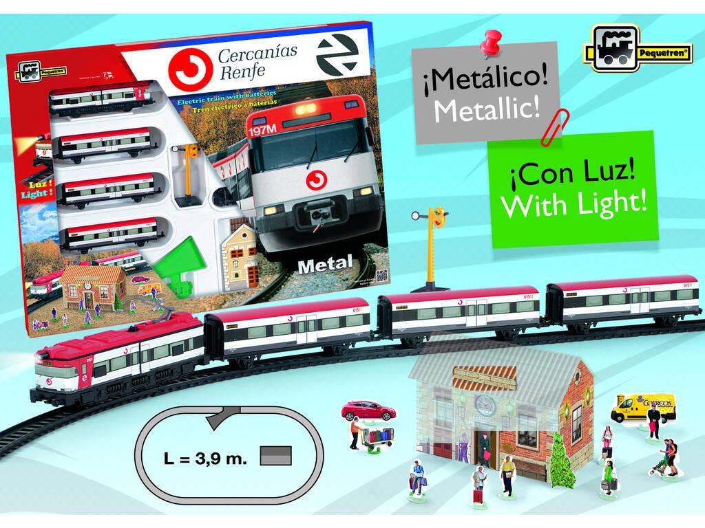 Comboio de Arredores Metálico com Luz e Estação