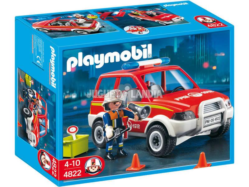 Playmobil coche jefe de bomberos