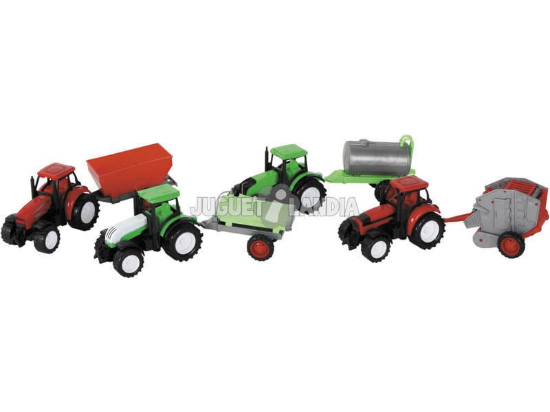 Set 4 Tractores con Remolque