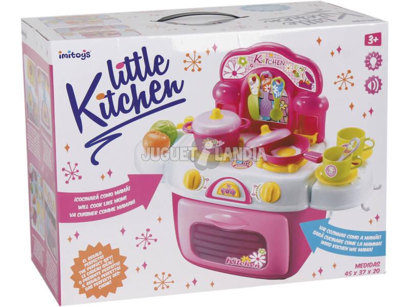 Cucina Mini Rosa con Luce, Suoni e Accessori