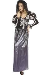 imagen Disfraz Novia Esqueleto Mujer Talla L