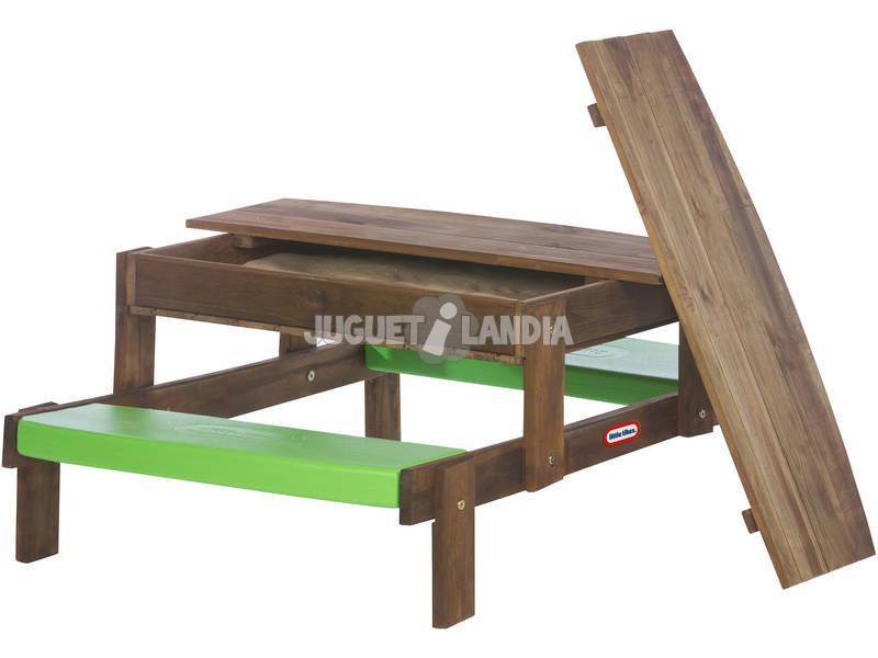 Mesa de piquenique de madeira