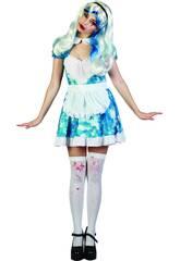 imagen Disfraz Sirvienta Sangrienta Mujer Talla XL