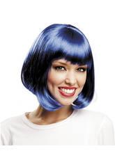 imagen Peluca Corta Azul