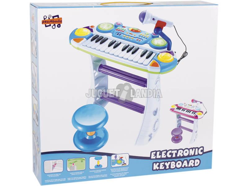 Organo Electronico Azul con Taburete y Micro