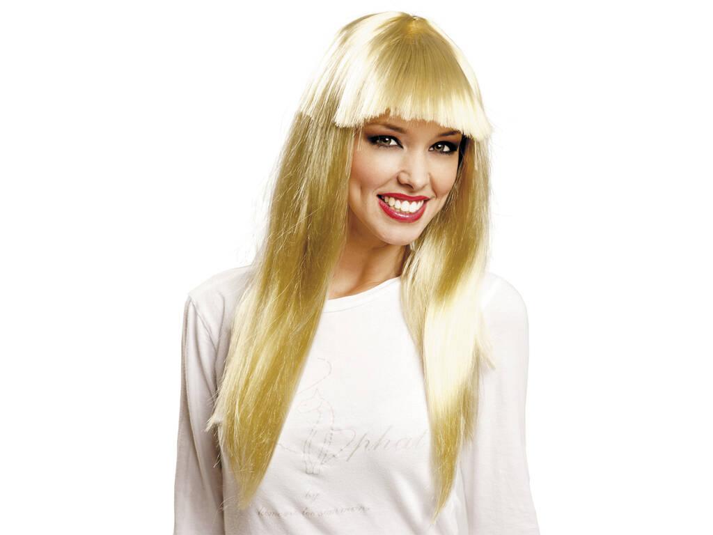 Perruque Longue avec Frange Blonde
