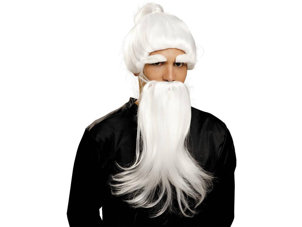 Peluca e Barba De Fu Man Chu