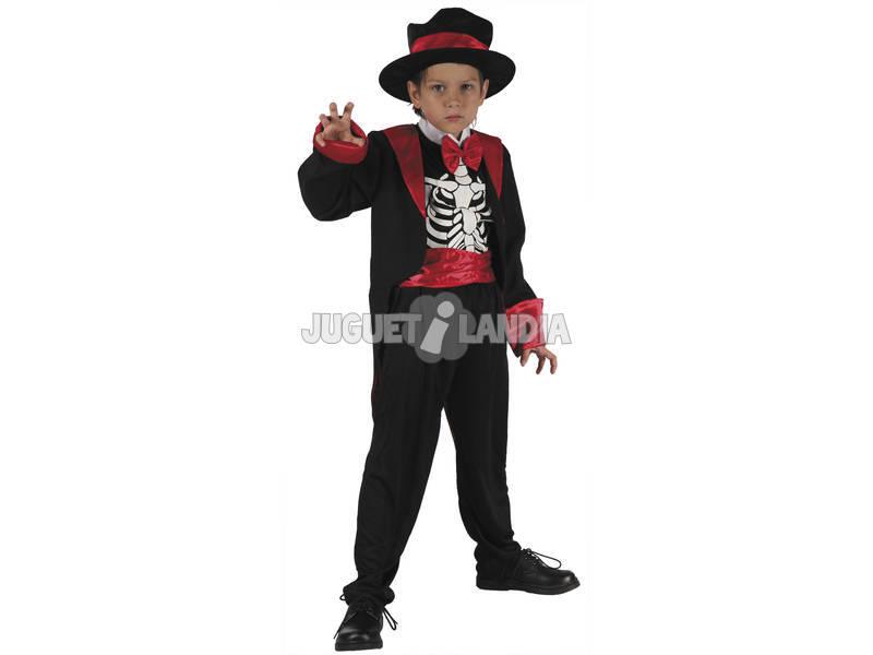 Fantasia Esqueleto Menino Tamanho M