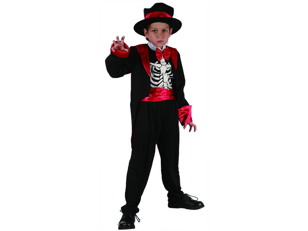 Disfarce Esqueleto Menino Tamanho L