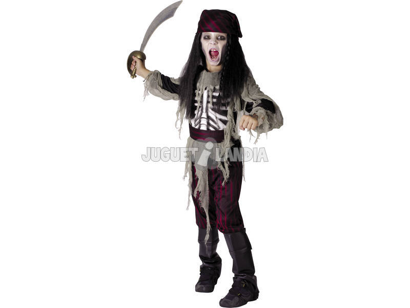 Disfarce Pirata Fantasma Menino Tamanho S