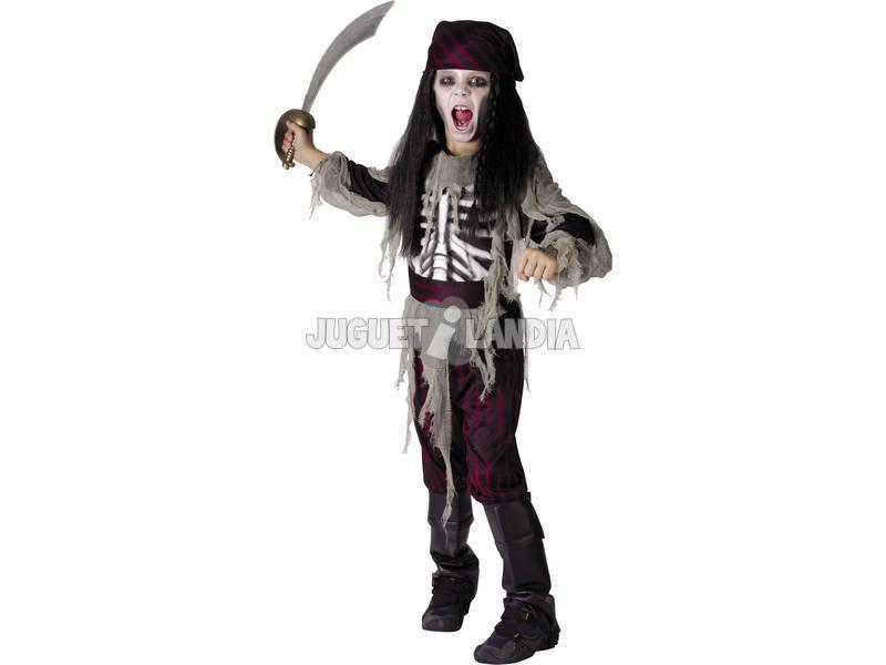 Disfarce Pirata Fantasma Menino Tamanho L